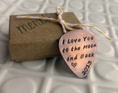 Personalized Guitar Pick - Copper - Hand Stamped Gift