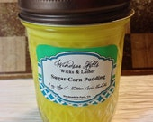 SALE Sugar Corn Pudding Soy/Cotton Candle