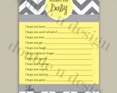 Chevron Wishes for Baby - Printable Baby Shower Game with Color Options