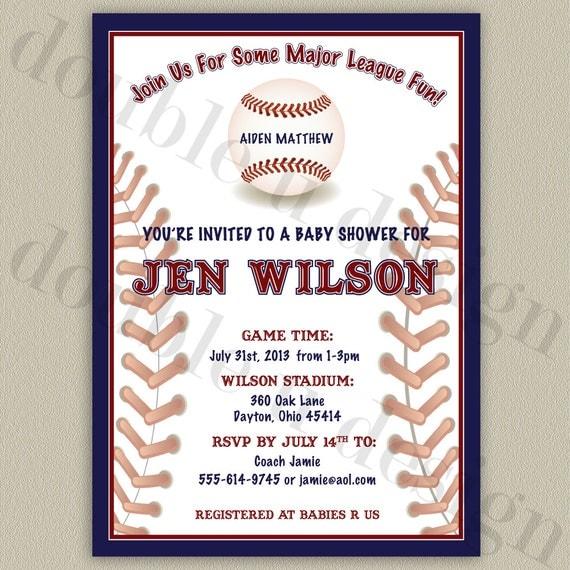 All-Star Baseball Printable Baby Shower By Doubleudesign