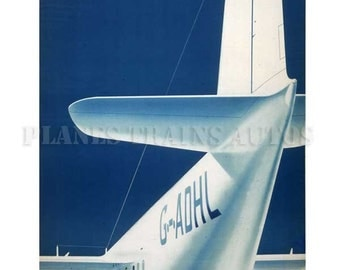 Vintage Airline Poster. Imperial Airways Empire Flying Boat 1939. PRINT