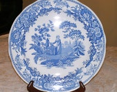 Spode Blue Room Collection Dinner Plate Girl at Well Made in England