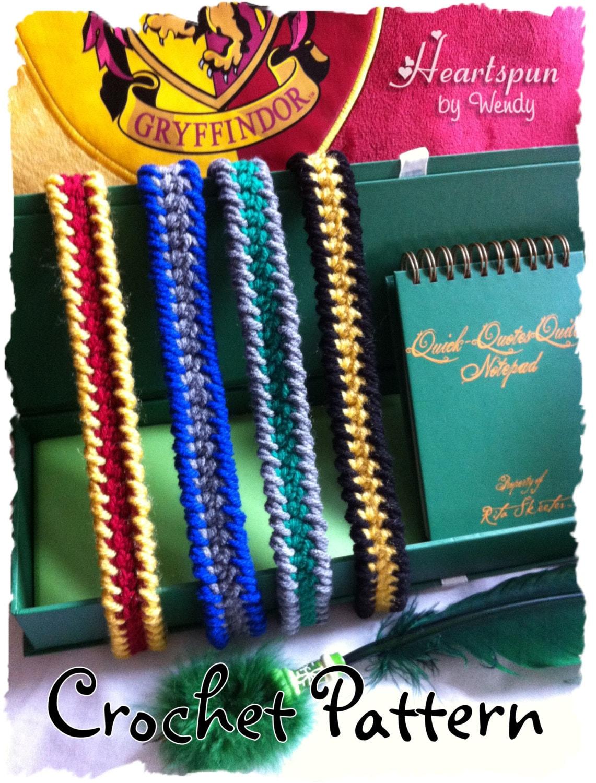 Crochet Pattern To Make Harry Potter Hogwarts House Colors