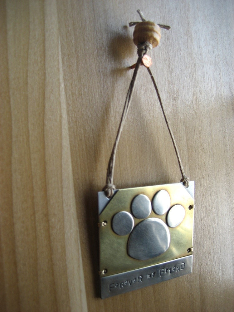 Pet memorial ornament unique pet lover gift brass ornament for Unusual dog gifts