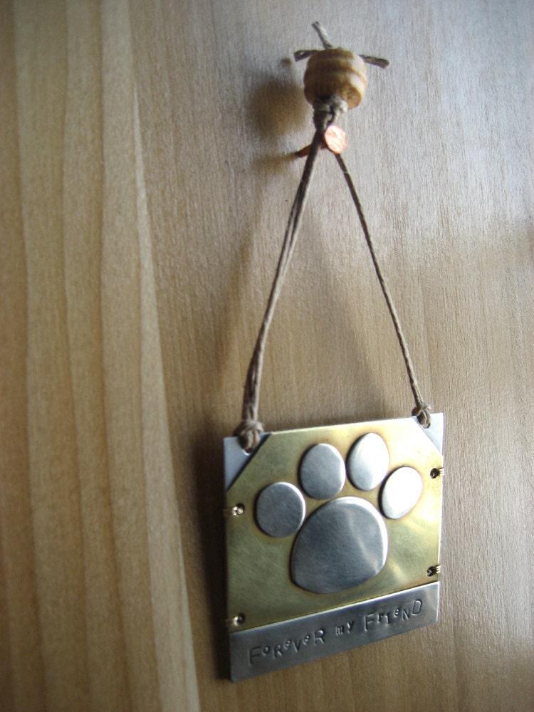 Pet Memorial Ornament Unique Pet Lover Gift Brass Ornament