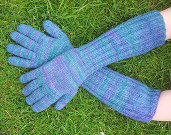 Knitting Service For Custom Long Elbow Length Gloves Made to Your Specifications