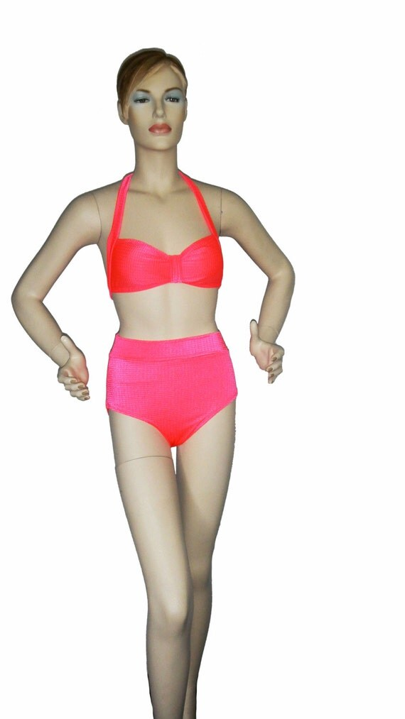 High waist bikini bottom in coral ombre. TOPUNDER High Waisted Bikini Top Swimsuit Sexy Siamese Tie Backless Halter Black and White for Women. by TOPUNDER. $ $ 8 Stripe Tie checks with a high waisted bottom for a classic, timeless Previous Page 1 2 3 7 Next Page. Show results for. Women's Fashion.