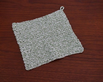 Large Crochet Dishcloth or Washcloth - 100% Cotton