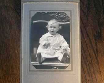 Vintage Photograph of a Baby 7.5 x 5