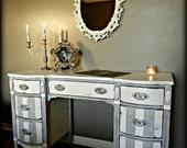 Vintage Shabby Glam French Desk / Vanity (RESERVED for GINA)