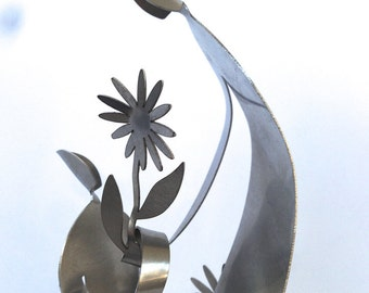 GARDENERS II - stainless steel gift sculpture-  art sculpture  sculpture
