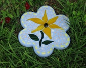 Handmade Stained Glass Mosaic Lily Stepping Stone