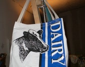 Tote made from recycled Dairy Feed Bags