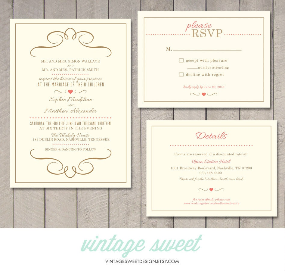 wedding invitation information | Wedding