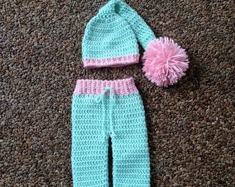 Instant Download - PDF Little Lullaby Pants and Hat Crochet Pattern - Pants - Hat - Photo Prop