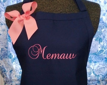 Personalized Apron for Mom Daughter Grandmother Nana