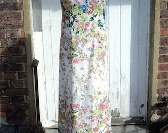 Full Bloom Floral Printed Maxi Dress