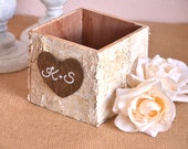 Personalized Wedding Birch Vase - advice box, home decoration, centerpiece