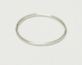 Posy Collection - Individual Skinny Stirling Stacking Rings