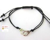 BDSM,  Handcuff Bracelet,  BDSM Jewelry, Submissive,  Friendship Bracelet