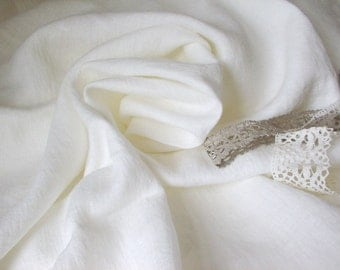 Antique White linen Eco Friendly Fabric--Organic Natural Softened Linen Tissue--DIY Projects--wholesale available