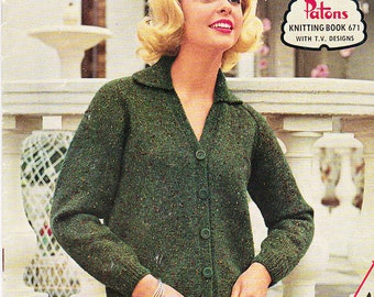On Sale - Paton's Knitting Pattern No 671  Fashion For Family in Patons Highland Sports or Confetti Flecks (Vintage 1960s)