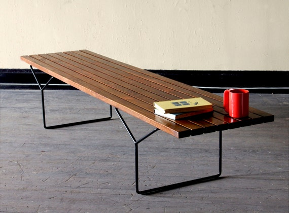 Reserved for w vintage bertoia bench or coffee table - Bertoia coffee table ...