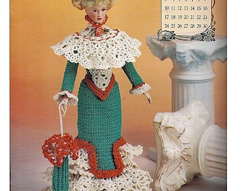 Miss November Promenade Costume The Edwardian Lady Collection  Fashion Doll  Crochet Pattern  Annies Attic 7911