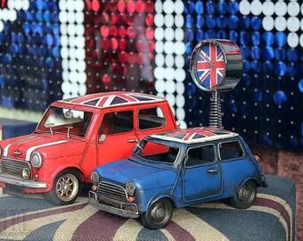 Austin Morris Mini modern wall decoration London print travel poster union jack britain London Britain boy London art 4x6 5x7 6x8 8x10 10x15