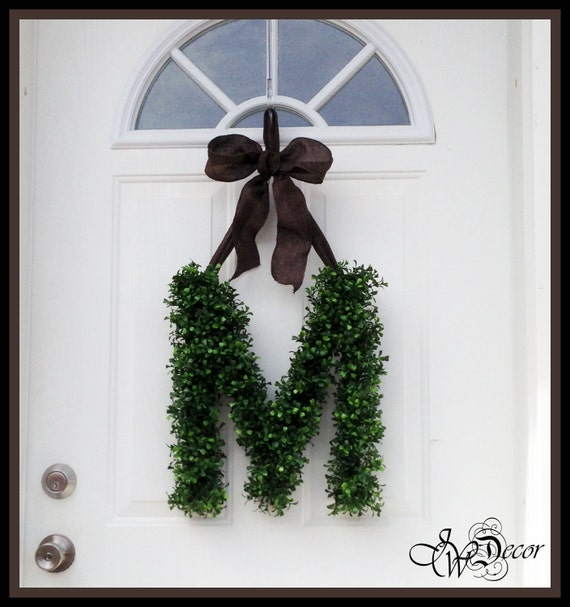 Monogram Front Door Decoration: Front Door Decoration Monogram Front Door Inital By JWDecor