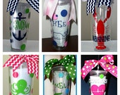 Preppy Preppy Personalized 20 oz Tumbler with Lid and Straw Custom Designed at Textually Preppy