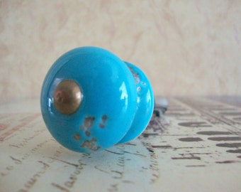 Wine Bottle Stopper - Turquoise Round Wine Stopper