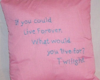 Twilight Inspired, If You Could Live Forever, Throw Pillow