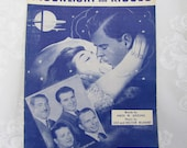 Moonlight and Kisses- Antique Piano Sheet Music by Leo and Hector Richard- The Melody Mixers- 1949