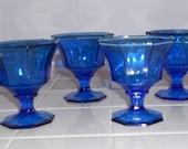 Vintage Cobalt Blue Sherbet Dishes