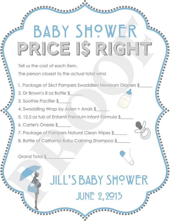 baby shower price is right logo