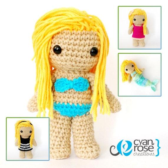 Crochet Amigurumi Accessories : Beautiful Crocheted Doll Crochet Amigurumi by ...