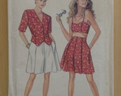 Misses Jacket, Top, and Shorts Simplicity New Look Sewing Pattern 6721 Size 6-16 90s Sale