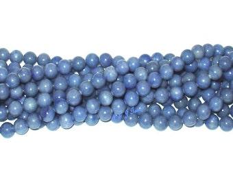 "Dumortierite 10mm Round Gemstone Beads - 15.5"" Strand"