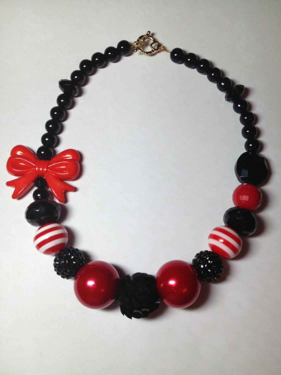 and black chunky beaded necklace baby toddler child