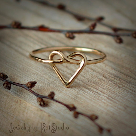 gold knot ring knot ring infinity by