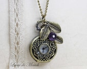 Victorian Pocket Watch necklace -Elegant watch necklace -For Her -Coupon code - Personalized - Custom colors