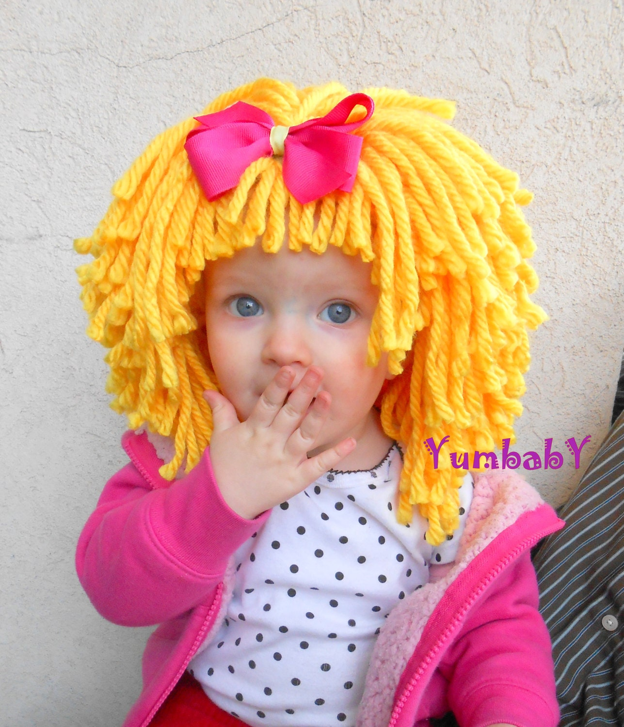 yellow wig halloween costume baby hat baby costume baby hats. Black Bedroom Furniture Sets. Home Design Ideas