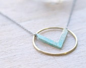 the Chevron Circle Necklace