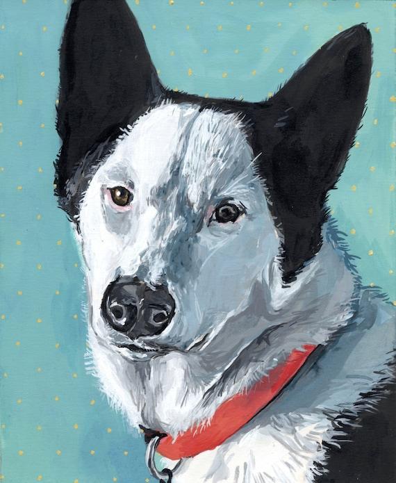 "8""x10"" Cute Custom Pet Portrait"