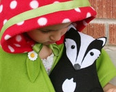 Forest Critters- Badger with Maple Leaf - Eco Friendly- Woodland Plush Animal - SavageSeeds