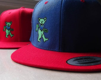 Grateful Dead Dancing Bear Snapback Hat