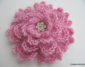 Crochet Flower PATTERN-Crochet Brooch-Flower Brooch-DIY Crafts-Flower Pattern-Crochet Jewelry-DIY Gift-Instant Download Pdf Pattern No.34