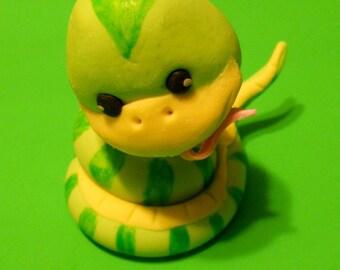 Adorable fondnt Baby Snake Cake Topper