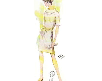 Plus Size (or any size) Vintage 1969 Dress Pattern - PDF - Pattern No 165 Rosalind